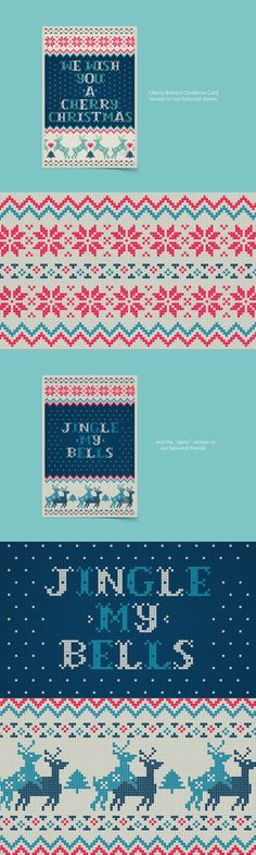 """Jingle My Bells"" · Cherry Bomb's Christmas card 2014 on Behance"