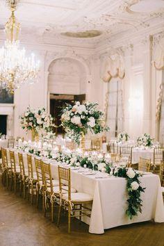 Wedding Hall Decorations, Wedding Centerpieces, Wedding Ballroom Decor, Wedding Table Arrangements, White Floral Centerpieces, Floral Decorations, Wedding Mandap, Stage Decorations, Best Wedding Colors