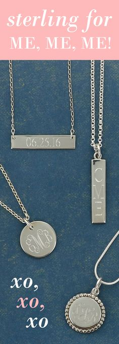 Monogrammed Sterling Classics | Initial Outfitters
