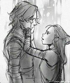 However pinned this last, good job: I love the fact that most Reylo art I see is simply her comforting him. I truly believe he's a broken soul and not a heartless monster. He just needs the strength to heal and he gets that from her. Kylo Rey, Kylo Ren And Rey, Amour Star Wars, Reylo Fanart, Star Wars Drawings, Star Wars Ships, Star War 3, Star Wars Fan Art, Star Wars Rebels