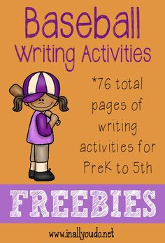 Baseball is America's Favorite Pastime. Kids will enjoy writing with these 76 themed Baseball writing activities for grade! Writing Activities For Preschoolers, Handwriting Activities, Reading Activities, Kindergarten Activities, Stars Classroom, Sports Theme Classroom, Kindergarten Units, Preschool Literacy, Summer School