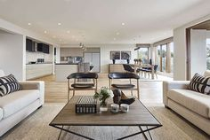 Emperor Series - Double Storey New Home Designs Living Room And Kitchen Design, Living Room Designs, Henley Homes, Kitchen Benches, Kitchen Images, Display Homes, Grand Designs, New Home Designs, Open Plan Living