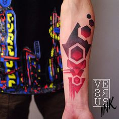 http://tattooideas247.com/abstract-tattoo-2/ Abstract Tattoo #Abstract, #Colorful, #RedPurple