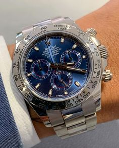 Rolex Watches, Watches For Men, Rolex Daytona, Men's Collection, Omega Watch, Diamond, Blue, Accessories, House Plans