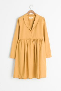 Olive - Scallop Neckline Dress, Mustard, £59.00 (http://www.oliveclothing.com/p-oliveunique-20160824-026-mustard-scallop-neckline-dress-mustard)