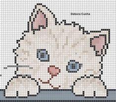 15 Ideas crochet baby blanket animals cross stitch for 2020 Cat Cross Stitches, Cross Stitch Baby, Cross Stitch Animals, Cross Stitch Charts, Cross Stitch Designs, Cross Stitching, Cross Stitch Embroidery, Cross Stitch Patterns, Embroidery Patterns