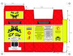 Diseño de empaque: Caja plegadiza para 3 sobres de condimentos, cambio de imagen e imagotipo EL REY