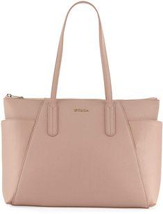 Furla Ariana Medium Leather Zip Tote Bag