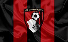 Lataa kuva Bournemouth, football club, Premier League, jalkapallo, Yhdistynyt Kuningaskunta, Englanti, lippu, tunnus, Bournemouth-logo, Englannin football club