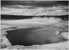 Fountain Geyser Pool, Yellowstone National Park by Ansel Adams