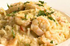 Aprenda a fazer o risoto de camarão cremoso:   Descubra que o mundo é maravilhoso com este risoto de camarão cremoso