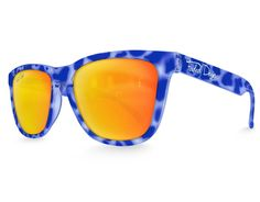 Blue Tortoise Yellow Lens Sunglasses