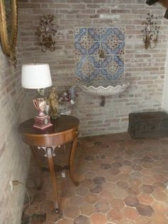 Love the old hexagonal terracotta tiles!