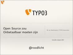 Presentatie over de structuur en omvang van de succesvolle TYPO3 Community en de TYPO3 Association. Tevens een sneak peak in TYPO3 Neos.