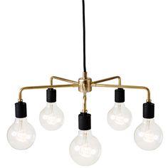 Leonard pendant lamp, brass