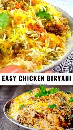 Indian Chicken Recipes, Spicy Chicken Recipes, Curry Recipes, Indian Food Recipes, Asian Recipes, Vegetarian Recipes, Cooking Recipes, Healthy Recipes, Quick Chicken Biryani Recipe