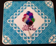 Happy birthday card custom made balloon bouquet