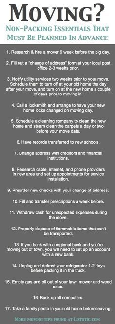 Moving to Florida checklist. please re-pin and share.