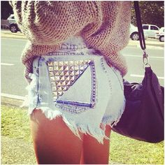 I want to put studs on some of my jeans to rock them out!