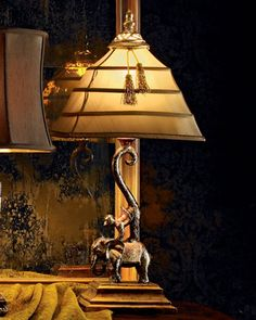 Euc Monkey Lamp Sitting Chimp With Shade 24 Quot Tall Safari