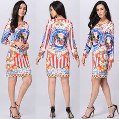 8112864dc7d4 Pencil Dress Plus Size Dresses Brand Clothing Casual Long Sleeve Royal Print  Pack Hip Women Evening Vestidos Black Cocktail Party Dress Long Dresses For  ...