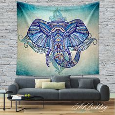 Bohemian Tapestry Elephant wall tapestry Hippie by ArtBedding