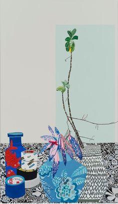 Jonas Wood, 'Blue Pot Still Life,' 2014, Gagosian Gallery