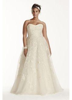 Oleg Cassini Organza Wedding Dress with Beading 8CWG700