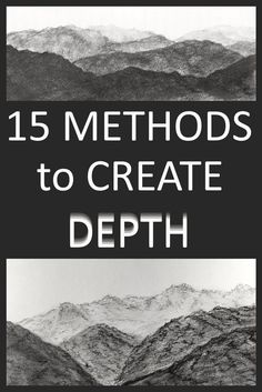 Top 15 methods for creating depth in a drawing or painting. Watercolor Painting Techniques, Gouache Painting, Painting Lessons, Drawing Techniques, Art Lessons, Painting & Drawing, Painting Tips, Drawing Lessons, Drawing Tips