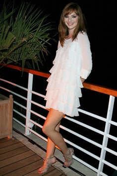 Louise Bourgoin at the Cannes Festival, 2008