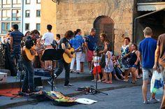 Ponte vecchio, Firenze, Italy 피렌체 베키오 다리의 악사들
