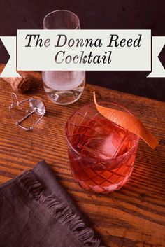 """The Donna Reed cocktail riffs on a classic Negroni, but coconut liqueur—inspired by the film """"It's a Wonderful Life""""—gives it an underlying tropical twist."""