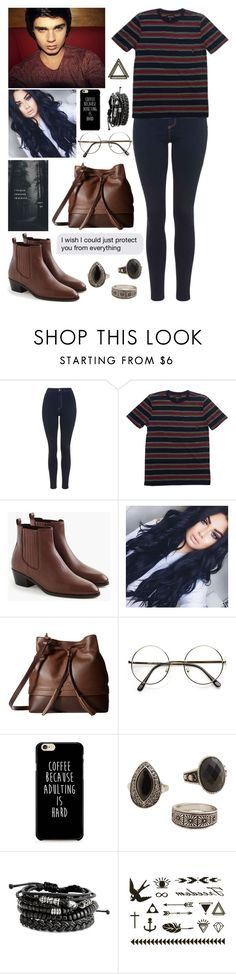 """There Is No Distraction to Mask What Is Real"" by adrianagallas ❤ liked on Polyvore featuring Topshop, Brixton, J.Crew, Lodis and MANGO"