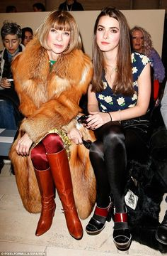 Anna Wintour and her daughter Bee Shaffer - At Victoria Beckham Fall/Winter 2015 Fashion Show @ New York Fashion Week. (February 2015)