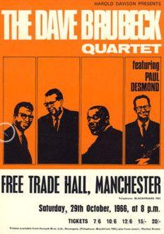 Concert Posters | Dave Brubeck Jazz - Memorabilia
