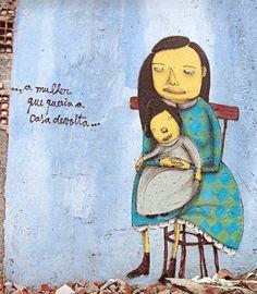 Artists : Os Gemeos. #osgemeos http://www.widewalls.ch/artist/os-gemeos/