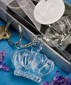 Glistening Crown Design Keychain Favors