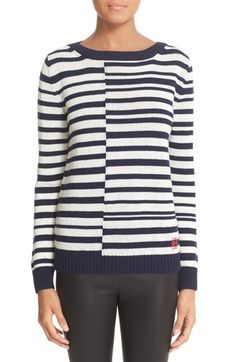 Loewe Stripe Linen & Wool Sweater   Nordstrom