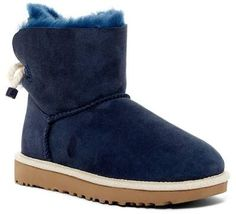 Selene Genuine Lamb Fur Lined Boot Blue Uggs, Navy Blue Boots, White Boots, Blue Shoes, Fashion Heels, Fashion Boots, Fashion Edgy, Womens Fashion Australia, Ugg Boots Outfit