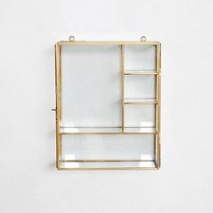 Glass shelves Ideas Display Case - Gold Glass shelves - Glass shelves For Boutique - - Glass shelves Lighting Floating Glass Shelves, Glass Shelves Kitchen, Suspended Shelves, Shelves Lighting, Three Bedroom House Plan, Unique Mirrors, Room Decor, Wall Decor, Diy Wall