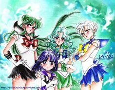 sailor moon - outer senshi  new age by zelldinchit.deviantart.com on @deviantART