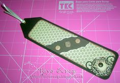Tutorial Scrapbooking Bookmark #diy #scrapbooking #bookmarks