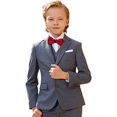 a34273f11a3238 ELPA ELPA Jungen Anzüge Kinder Schlanke Passform Formal Anzug 6 Stück Jugend  Einfarbig Kleidung für Hochzeiten