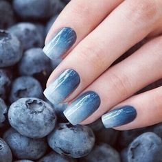 Image via We Heart It #beautiful #blue #fashion #nails #style #nailart #blueberrys #ombre