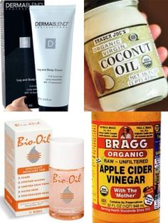 Want to clear breakouts and fade scarring? Quit using soap on your skin! Remove makeup and cleanse skin by rubbing on coconut oil, then rub off with wash cloth and warm water. Heal blemishes and fade scars with raw organic apple cider vinegar; dilute with water to start; I use full strength- burns like hell for a second but then makes skin feel great! For foundation try a dab of dermablend leg and body cover mixed with a couple drops of bio oil. Great coverage, lasts forever! by NZM