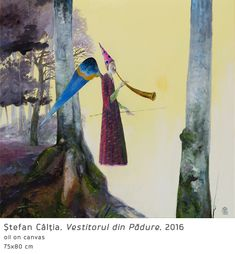 #51 Vestitorul din Padure Surrealism, Modern Art, Past, Fantasy, Inspiration, Romania, Magic, Paintings, Artists