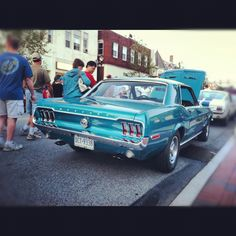 Classic Mustang -Turquoise.  Except mine will have a white leather interior. :*  Make it happen, Victor! <3