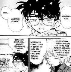 Conan aja bilang menyebalkan tau ... #stop #valentineday #cartun #detectiveconan #komikjepang by jamal_al_afghani
