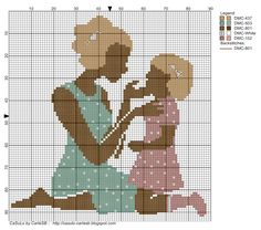 0 point de croix mère et son fils - cross stitch mother and her son Ribbon Embroidery, Cross Stitch Embroidery, Cross Stitch Patterns, Cross Stitch Boards, Cross Stitch Love, Silhouette, Pixel Art, Stitch Doll, Fuse Beads