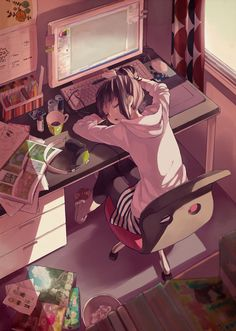 Find images and videos about girl, anime and kawaii on We Heart It - the app to get lost in what you love. Art Anime Fille, Anime Art Girl, Manga Girl, Anime Girls, Anime Love, Beautiful Anime Girl, Manga Anime, Otaku Anime, Chibi